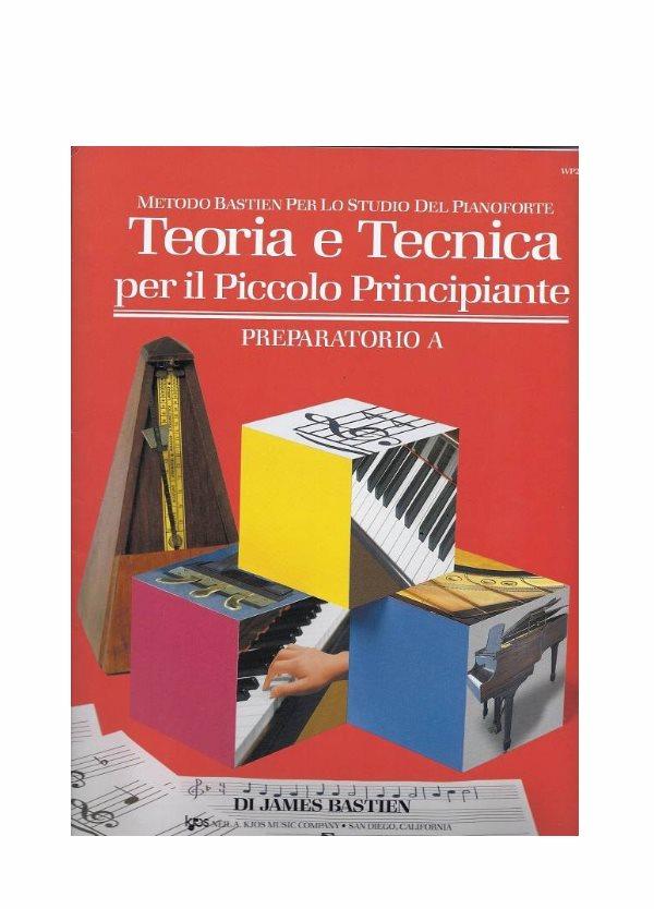 Bastien metodo per pianoforte per il piccolo principiante Preparatorio A